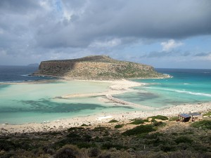 Balos on a stormy day